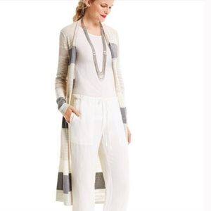 CAbi #5018 Vineyard Sweater Long Striped Cardigan